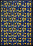 Any Day Matinee Marquee Star Blue Area Rug by Joy Carpets