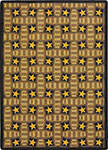 Any Day Matinee Marquee Star Chocolate Area Rug by Joy Carpets