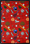 Games People Play Multi-Sport Red Area Rug by Joy Carpets