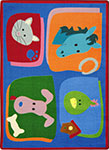 Kid Essentials - Infants & Toddlers My Favorite Animals Multi Area Rug by Joy Carpets