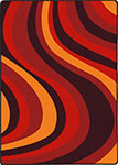 Kid Essentials - Teen On the Curve Red Area Rug by Joy Carpets