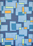 Kid Essentials - Teen Outside the Box Cool Blue Area Rug by Joy Carpets