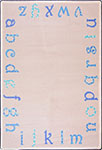 Kid Essentials - Infants & Toddlers Polka Dot ABCs Blue Area Rug by Joy Carpets