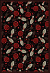 Games People Play Retro Bowl Fireball Red Area Rug by Joy Carpets