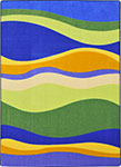 Kid Essentials - Infants & Toddlers Riding Waves Multi Area Rug by Joy Carpets