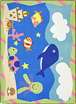 Kid Essentials - Infants & Toddlers Sea Babies Multi Area Rug by Joy Carpets