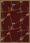 Games People Play Snookered Burgundy Area Rug by Joy Carpets
