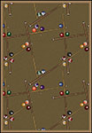 Games People Play Snookered Dark Dust Area Rug by Joy Carpets