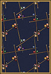 Games People Play Snookered Federal Blue Area Rug by Joy Carpets