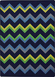Kid Essentials - Teen Sonic Navy Area Rug by Joy Carpets
