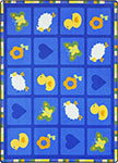 Kid Essentials - Infants & Toddlers Spring Things Blue Area Rug by Joy Carpets