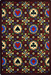 Games People Play Stacked Deck Burgundy Area Rug by Joy Carpets