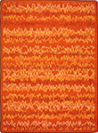 Kid Essentials - Teen Static Electricity Orange Area Rug by Joy Carpets