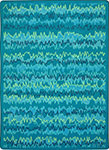 Kid Essentials - Teen Static Electricity Teal Area Rug by Joy Carpets