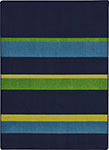 Kid Essentials - Teen Straight and Narrow Navy Area Rug by Joy Carpets