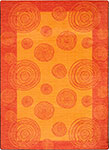 Kid Essentials - Teen Whimzi Orange Area Rug by Joy Carpets