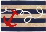 Liora Manne Frontporch 1400/33 Anchor Navy Area Rug