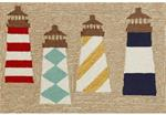 Liora Manne Frontporch 1401/12 Lighthouses Natural Area Rug