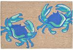 Liora Manne Frontporch 1404/03 Crabs Blue Area Rug