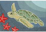 Liora Manne Frontporch 1431/04 Sea Turtle Ocean Area Rug