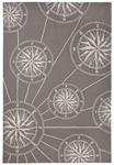 Liora Manne Frontporch 1447/47 Compass Grey Area Rug