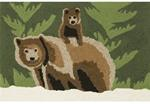 Liora Manne Frontporch 1463/16 Bear Family Forest Area Rug