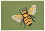 Liora Manne Frontporch 1505/06 Bee Green Area Rug