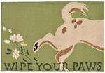 Liora Manne Frontporch 1522/06 Wipe Your Paws Green Area Rug