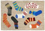 Liora Manne Frontporch 1541/94 Lost Socks Multi Area Rug