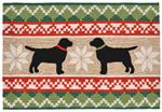 Liora Manne Frontporch 1565/12 Nordic Dogs Neutral Area Rug