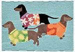 Liora Manne Frontporch 1583/44 Tropical Hounds Multi Area Rug