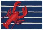 Liora Manne Frontporch 1595/33 Lobster on Stripes Navy Area Rug
