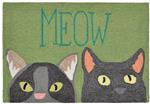 Liora Manne Frontporch 1821/06 Meow Green Area Rug
