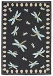 Liora Manne Frontporch 2048/47 Dragonfly Midnight Area Rug