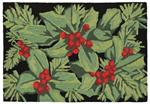 Liora Manne Frontporch 2419/48 Hollyberries Black Area Rug