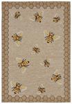 Liora Manne Frontporch 2432/12 Honeycomb Bee Natural Area Rug