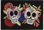 Liora Manne Frontporch 4274/48 Mr.& Mrs. Muerto Black Area Rug