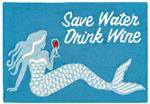 Liora Manne Frontporch 4352/04 Save Water Drink Wine Ocean Area Rug