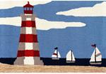 Liora Manne Frontporch 4397/03 Lighthouse Sky Area Rug