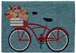Liora Manne Frontporch 4434/03 Bike Ride Blue Area Rug