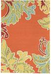 Liora Manne Ravella 1947/17 Ornamental Leaf Border Orange Area Rug