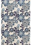 Liora Manne Ravella 2180/03 Floral China Blue Area Rug