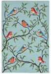 Liora Manne Ravella 2270/04 Birds On Branches Aqua Area Rug