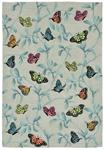 Liora Manne Ravella 2274/06 Butterflies On Tree Mist Area Rug