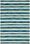 Liora Manne Visions II 4313/03 Painted Stripes Cool Area Rug