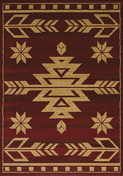 United Weavers Affinity 750 00130 Teton Red Area Rug