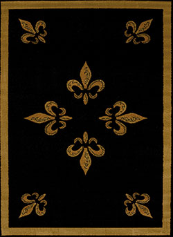 United Weavers Affinity 750 00570 Fleur De Lys Black Area Rug