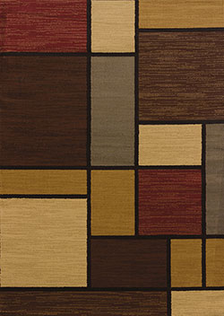 United Weavers Affinity 750 00675 Rhombus Multicolor Area Rug