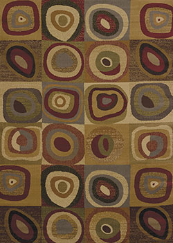 United Weavers Affinity 750 00775 Seismic Multicolor Area Rug