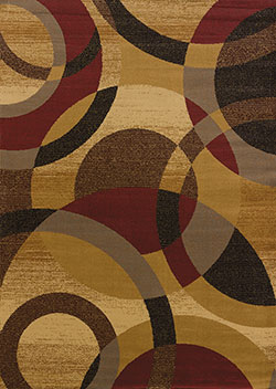 United Weavers Affinity 750 00918 Ricochet Gold Area Rug